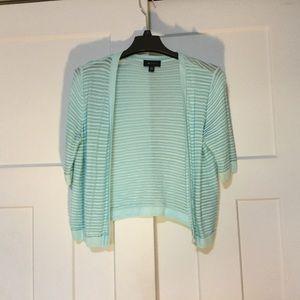 Light Blue Sheer Stripe Cardigan